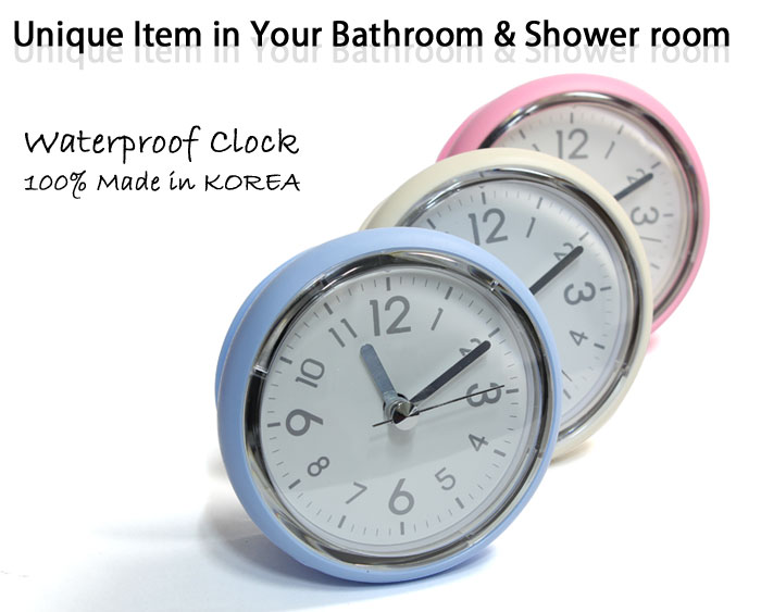 CategoriesBathroom Mirror Suction Clock Shower Room Clock Waterproof Clock  . Small Bathroom Clocks. Home Design Ideas